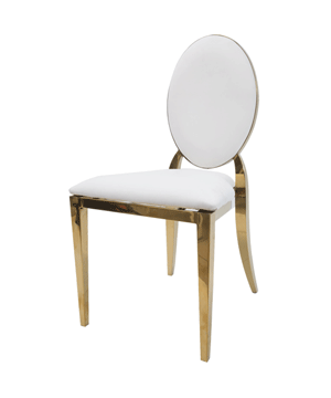 Oval Padded Gold Trim Chair